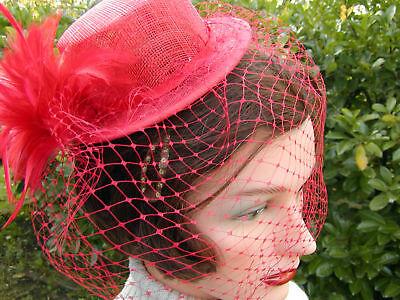 Tocado Fascinante Cilindro Elegante Sombrero para Eventos Boda Ascot Fijo Baile