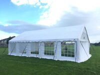 white 10m x 6m (33ft x 20ft) marquee vgc