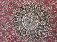 Persian Mashadd Oriental Rug Carpet - Handmade & Vintage - 10 x 13 FT