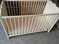 Cot bed with Mattress- Almost new from Smoke and pet free home