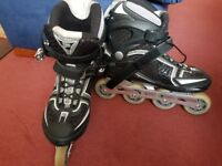 FILA MASTER WAVE Black fitness men's Inline skate size 10.5 UK NEW