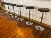 6 BLACK AND METAL BAR STOOLS BOUGHT FROM AMAZON
