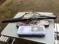 Job lot fishing tackle rods and travel set