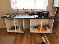 Kitchen units, Worktop, Sink & Tap