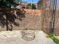 vintage wrought iron garden wishing well