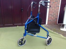 Walking frame on wheels, with basket, excellent condition and hardly used.