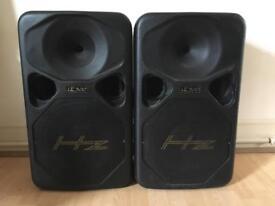 HZ HE300 passive speakers
