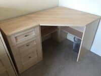 Corner Desk and Drawers
