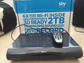 Sky + HD 2TB Box with remote control