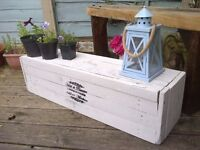 plant display VINTAGE SHABBY CHIC RUSTIC FRENCH INSPIRED FARMHOUSE TRUNK CHEST COFFEE TABLE