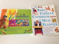 2 baby and toddler meal planner books