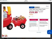 Little tikes play car petrol pump and trailer
