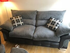 3 seater sofa, swivel arm chair and footstool (cushions all included)
