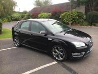 Ford Focus ST-3 2.5 Turbo 5 Door Hatch 2006 black fsh * Finance * Bmw Astra Golf Vxr S3 Gti Rs