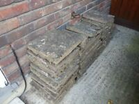 Slabs for sale, 50 pence each, approximately 160 slabs available, 30cm (12'') by 30cm (12'') each