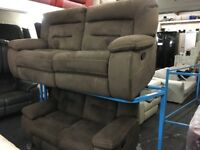 New/Ex Display Kinman 3 + 2 Seater Recliner Sofas