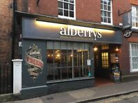 Manager: Alberrys Wine Bar a unique bar and eatery in the heart of the cathedral city of Canterbury.