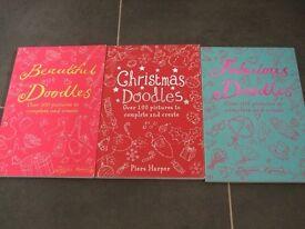 Christmas Doodles, Beautiful Doodles & Fabulous Doodles Drawing Books