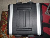 "2U 19"" Rack Deep ABS Flight Case 2 door"