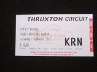 Thruxton BRC Raceday tickets x 2