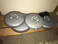 FREE York sand filled weights 2 x 5kgs and 2 x 2.5kgs
