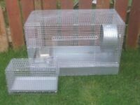 CHINCHILA CAGE WITH WHEEL AND CARRIER £30