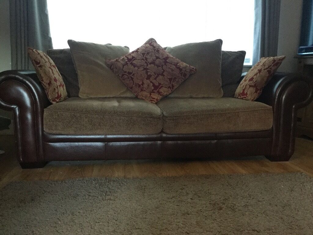 Reduced Harveys Casablanca Leather Fabric Sofas 2 And 3