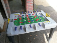Table top football plus mini snooker table & 2 cues
