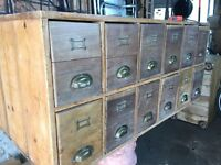 Antique wooden filing cabinet