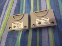 Nintendo 64 - N64 Genuine Official Memory Card / Controller Pak / Pack / Cart