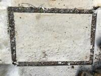 Concrete slabs 62cm x 84cm for shed greenhouse base (approx)