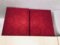 2 lovely red lamp / ceiling light shades