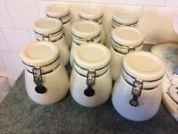 Kitchen storage jars x 9