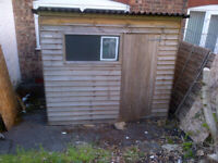 8ft x 6ft Overlap Garden Shed with Pent Roof