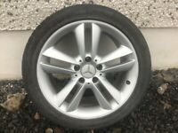17INCH 5/112 MERCEDES ALLOY WHEELS WITH WIDER REARS COMPLETE WITH TYRES