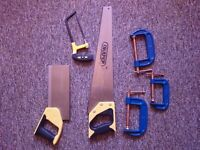 Draper DIY Series Handsaw Set (3 Pieces) + 3 Silverline G-clamps