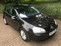 2007 VW VOLKSWAGEN GOLF 1.9 TDI MATCH BLACK 5DR LOW MILEAGE