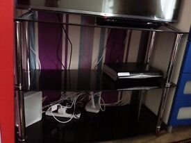 tv stand and 2 single bed and mattress ..kids crib...for sale