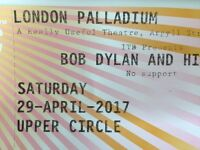 2 x Tickets - BOB DYLAN - London Palladium - Saturday 29th April 2017