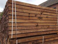 Hardwood Garden Sleepers | Untreated | 2400 x 200 x 100