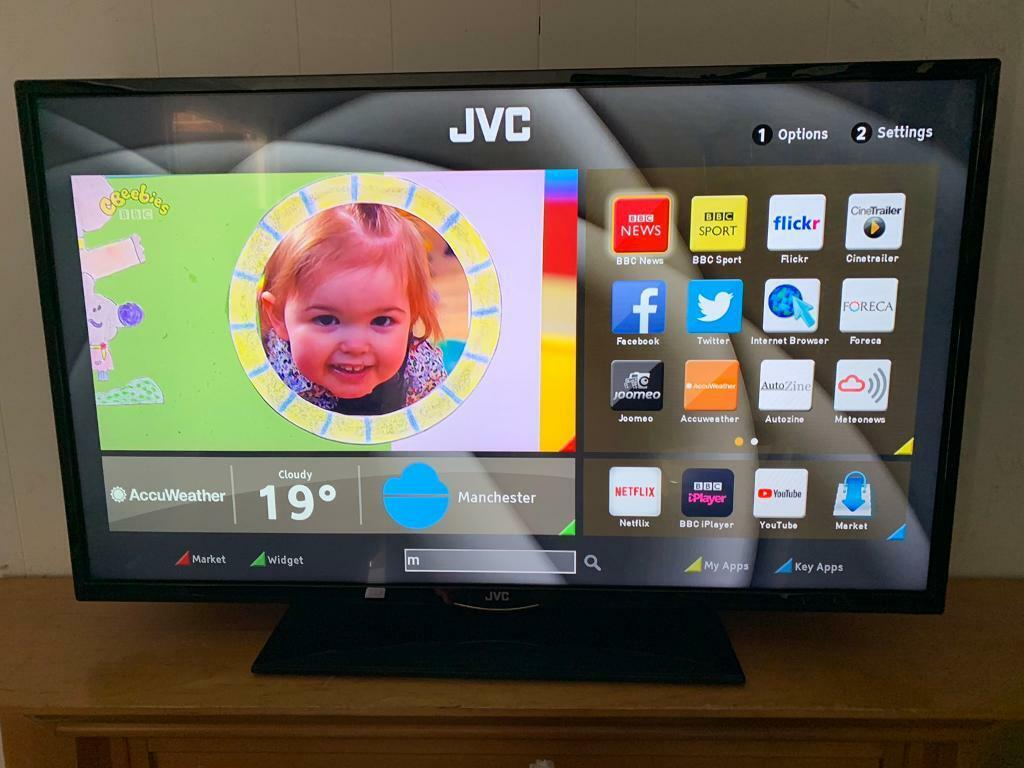 """42"""" jvc smart full hd led tv very good condition like new no problems 