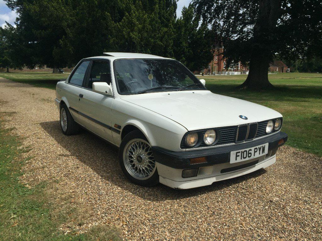 bmw e30 316 with 318is engine coupe white mtech 2 rear. Black Bedroom Furniture Sets. Home Design Ideas