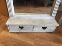 Grey mirror drawer unit