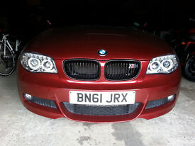 Reduced! BMW 1 Series M Sport Coupe with facelift lift LED headlights.