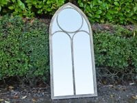 Vintage Church Style Metal Arch Mirror 4211
