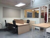 Desk spaces available now in shared creative studio/workshop - perfect for small company!