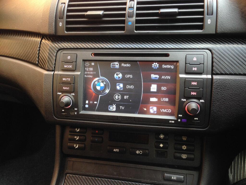 eonon 7 5150 car stereo dvd player gps sat nav for bmw e46 maps ipod nano 16 gb in leamington. Black Bedroom Furniture Sets. Home Design Ideas