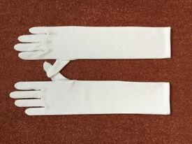 Ivory/ matt wedding gloves