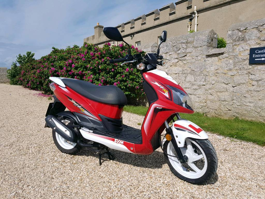 sym jet 4 r 50 sports scooter moped 2016 mint condition in portland dorset gumtree. Black Bedroom Furniture Sets. Home Design Ideas