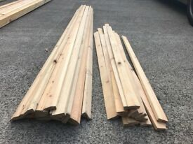 42 Lengths Pine Timber Bevelled Architrave ( enough for 14 doorways ) old stock